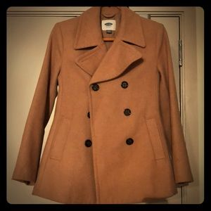 Brown Old Navy wool buttoned down pea coat